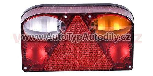 www.autotypautodily.cz Zadní světlo obdélník 238x138mm s couvačkou (gumová průchodka pro kabeláž) P