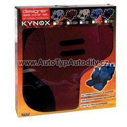 Autopotahy Kynox vínovo - černé Lampa