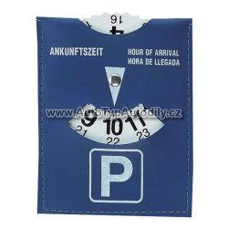 Parkovací hodiny, modré koženka