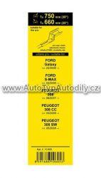 www.autotypautodily.cz Stěrače FLAT SET (CUBE) 750+660mm GALXY / S-MAX ... COMPASS