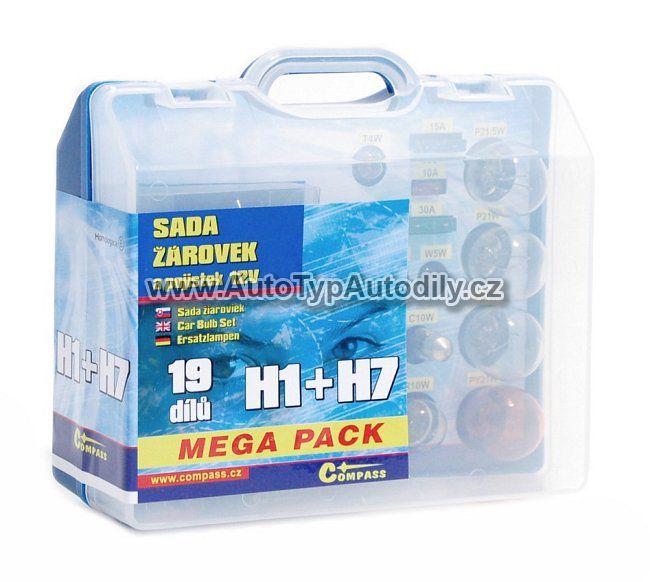 www.autotypautodily.cz Sada žárovek H1+H7 Megapack : 08517 COMPASS