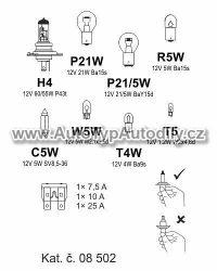 Sada žárovek UNI 12V/ H4 COMPASS : 08 502