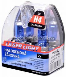 Žárovka H4 12V 60/55W WHITE LASER 2ks