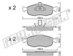 Brzdové destičky přední Ford Mondeo I / II  94-96 / 98-00