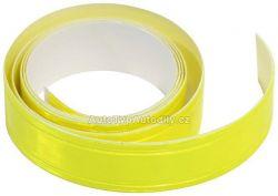 Samolepící páska reflexní 2cm x 90cm žlutá 01 584