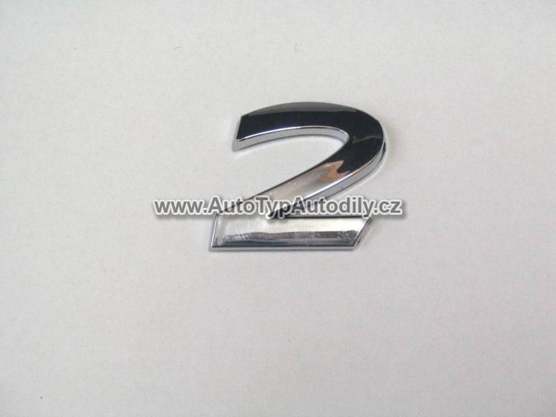 www.autotypautodily.cz Znak číslice 2