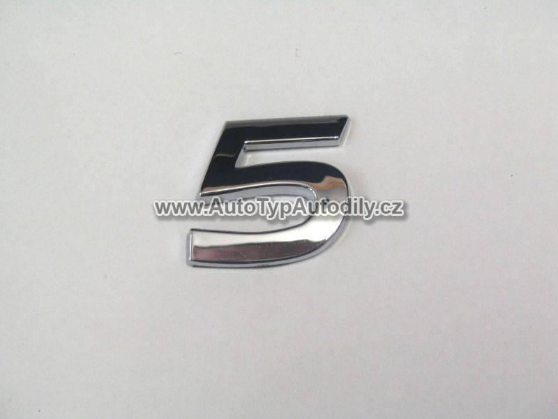 www.autotypautodily.cz Znak číslice 5