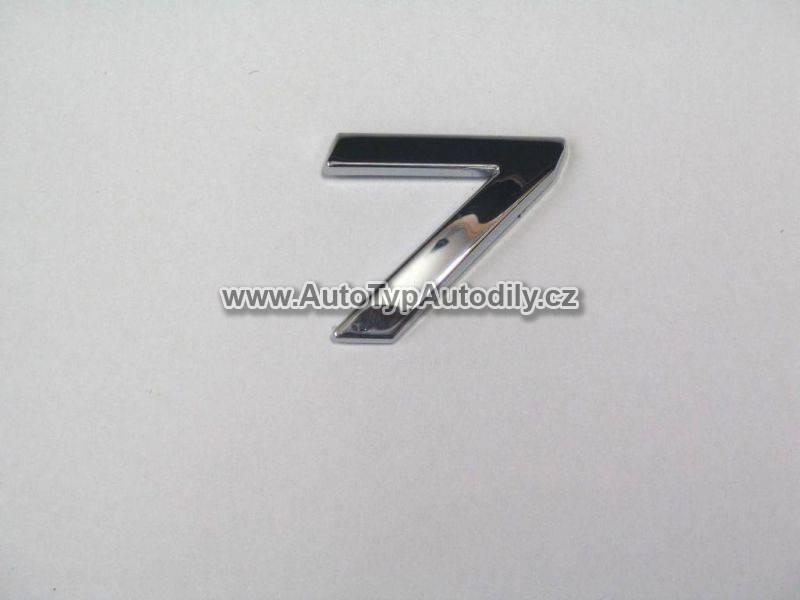 www.autotypautodily.cz Znak číslice 7