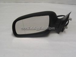 Zrcátko zpětné venkovní levé Škoda Octavia černé. elektrické + vyhřívané CN : 1U1-857501BA